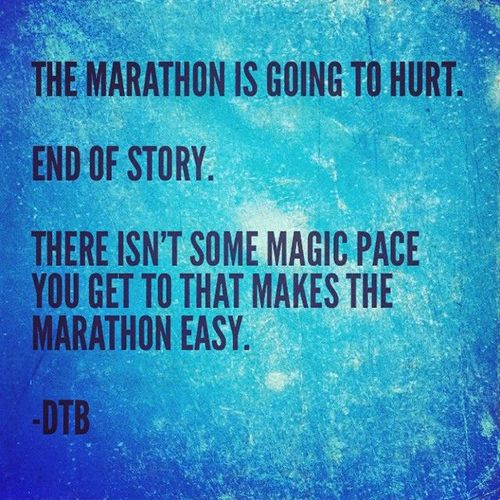 Running Matters #129: The marathon is going to hurt. End of story. There isn't some magic pace you get to that makes the marathon easy.