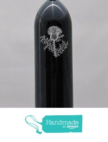 Deep Sandblasted Miron Glass Water Bottle Thistle 32 Design Engraved Etched 1 Liter With tamper proof cap. from Algrium Engraving & Jewelry https://www.amazon.com/dp/B016TQIESI/ref=hnd_sw_r_pi_dp_bZxExb6YG0XXR #handmadeatamazon