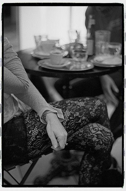 Woman in a coffee bar