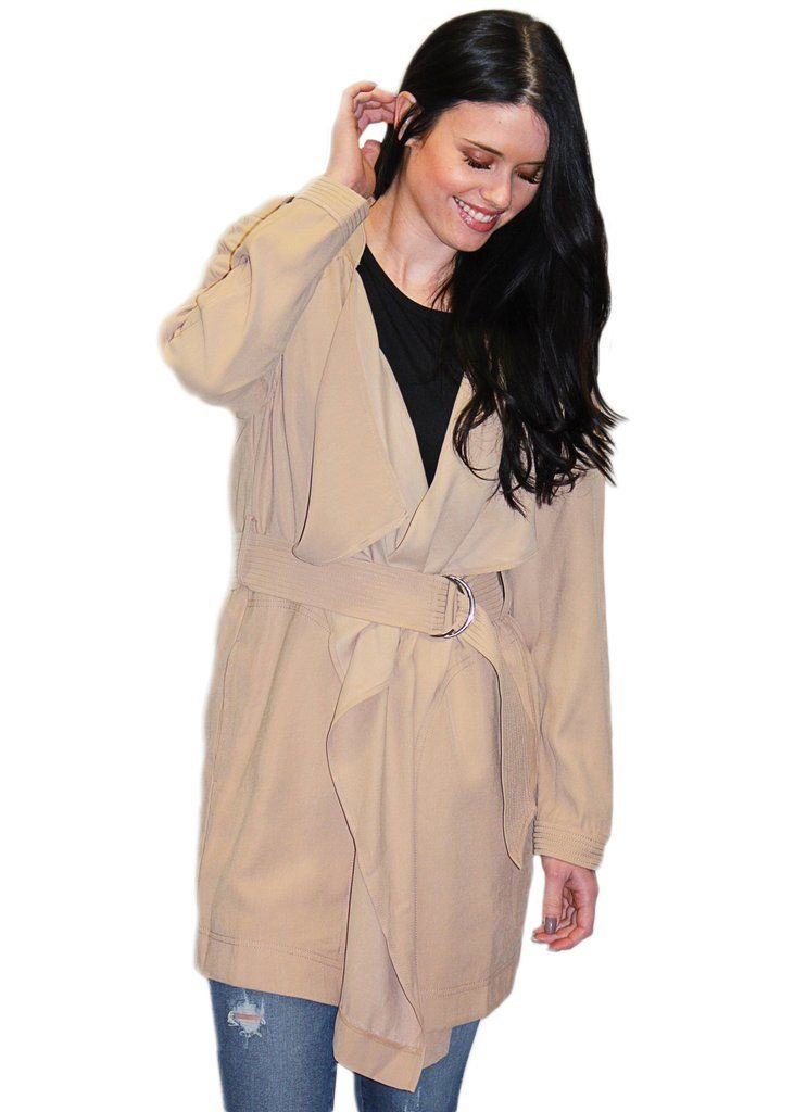 Cali Belted Twill Trench Coat