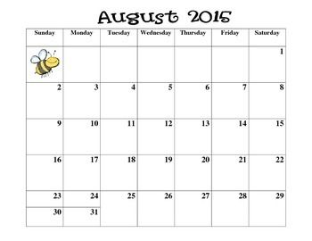 August+2015+-+July+2016+monthly+calendars.+Perfect+for+keeping+yourself+organized!If+you+would+like+a+fancier+calendar+that+is+editable,+here+is+my+Editable+Teacher+CalendarIf+you+would+like+a+Canadian+calendar,+here+is+my+Editable+Canadian+Version