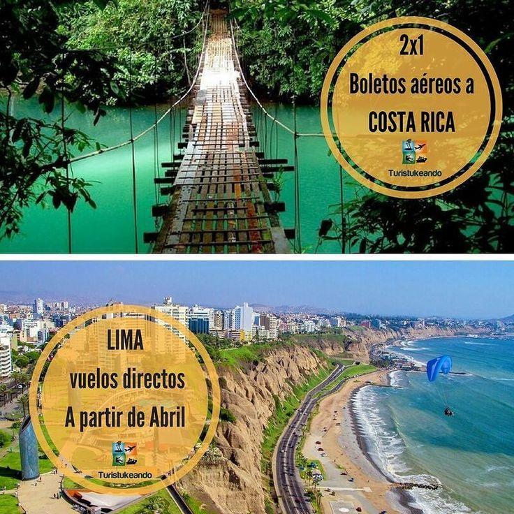 Buenas noticias!  Se vienen promos.  1)) 2x1 Costa Rica  Salidas: Lunes y viernes Saliendo desde Caracas Hasta el 27 de Febrero.  2)) Nueva Ruta aérea  A Lima- Perú  Saliendo desde Valencia. A partir del 3 de abril 2017. Dias: Lunes Jueves y Viernes.  Reservaciones: turistukeando@gmail.com Info@turistukeando.com Teléfonos:  0295 4171343/ 0212 4240881  Whatsapp: 58 412 7050963/ 414 1542963/ 58 412 3926913  http://ift.tt/1iANcOy  #YoViajoLuegoExisto  #ViajoLuegoExisto #GoPro #Goprove…