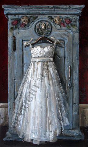 M11157 Green Cupboard White dress 600 x 1000 x 25
