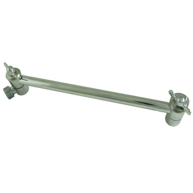"Kingston Brass K153A1 Plumbing Parts 10"" High-Low Shower Arm Adjustable, Polished Chrome - Price: $29.95 & FREE Shipping over $99"