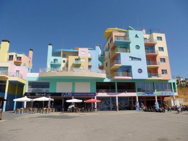The marina at albufiera , beautiful colour in the sun