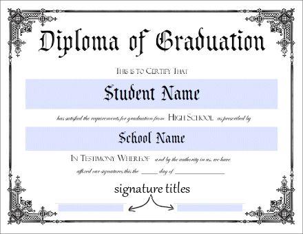 Download Jr High School Diploma Free Templates Geographics - Free high school diploma template with seal