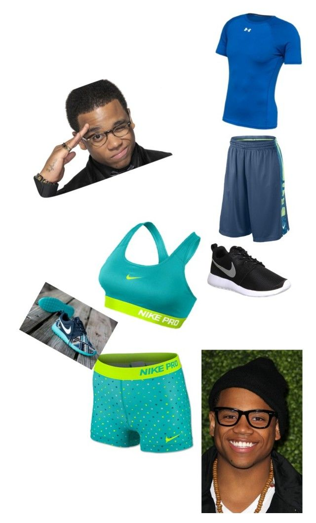 """""""Working Out with Tristan Wilds"""" by averageclouds on Polyvore featuring NIKE and Under Armour"""