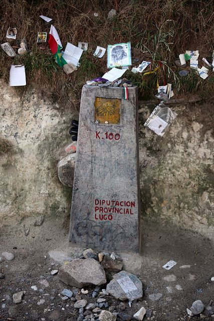 100 km / Spain, El Camino de Santiago.  Never really believe the way markers!  Your day is going to be longer than you expect.