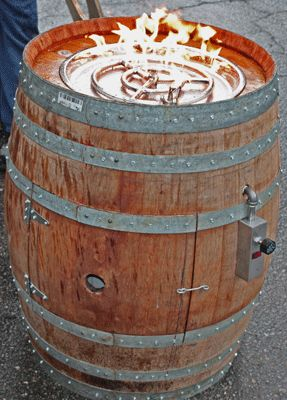 Start with a wine barrel. You don't have to drink all the wine. Get an empty one.