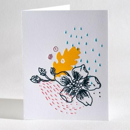 Lavandula Letterpress kort - Wildflower kolleksjon