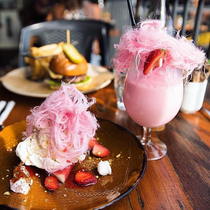 Okay so this @wildpearcafe rosewater milkshake and Turkish pavlova with fairy floss is way too hard to ignore   Pink everythaaaang! Photo by @estar_p  by fdprn