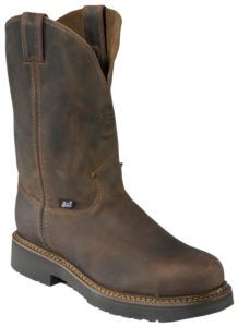 Justin Original Workboots Men's Rugged Bay Gaucho Brown JMAX Steel Toe Pull On Boot | Cavender's
