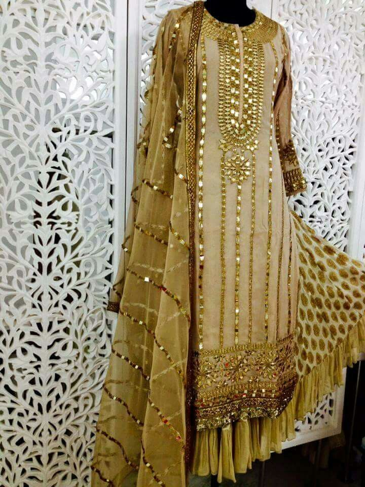 Gota patti Get this salwar suit designed at nivetas design studio whatsapp +917696747289 http://www.facebook.com/punjabisboutique we deliver world wide