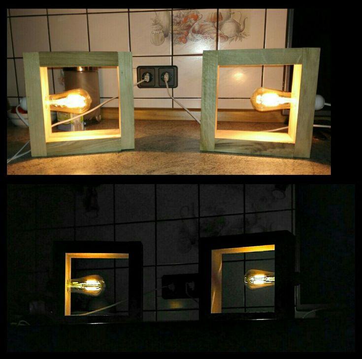 Led Holz Designer Lampe Holzlampe Selbstbau Designerlampe