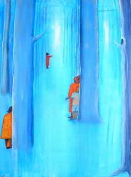 """'Schemerbos"""" painting from Floor Hendriks"""