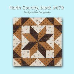 100 Blocks Sampler Sew Along Block 20: North Country designed by Doug Leko #100BlocksSampler