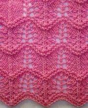Teste padrão ondulado Knitting Ponto