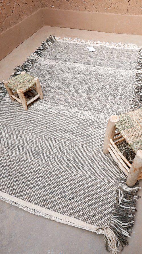 Image of Moroccan Kilim Rug - Zanfi Pattern Flatweave
