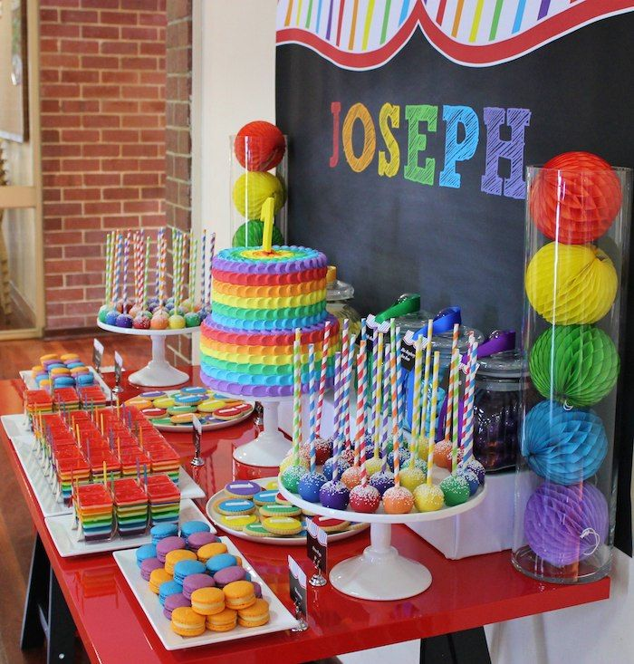 Rainbow Themed First Birthday Party Planning Ideas Styling Decor & 244 best zaidens first birthday ideas images on Pinterest ...
