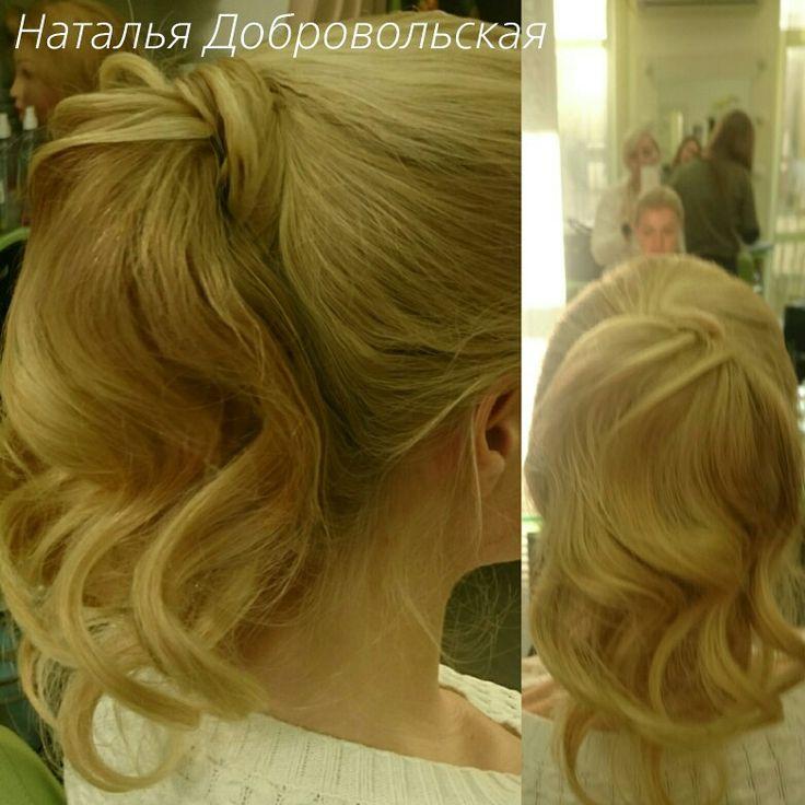 Чудесный хвост получился из волос длиной по лопатки :-D #хвостик #хвостики #прическа #прически #днепропетровск #девочкионитакие #hair #hairstyle #beautiful #высокийхвост #волос #локоны