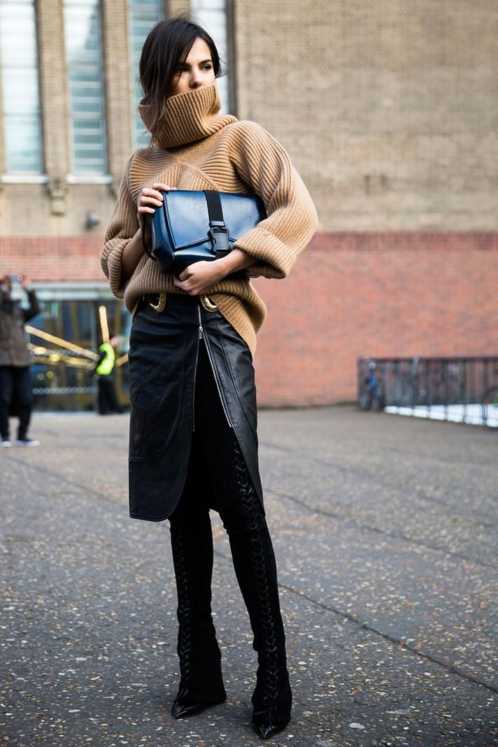 All the BEST Street Style from London Fashion Week Fall 2016 | @stylecaster