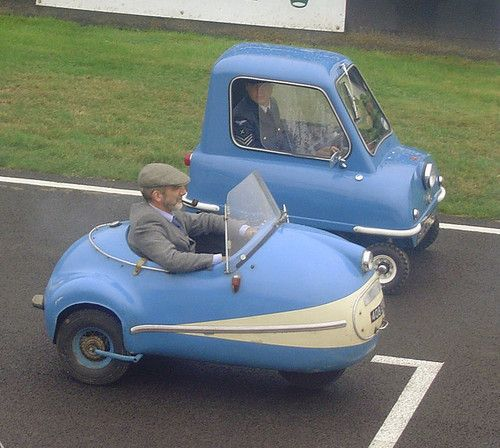 Brütsch Mopetta and the Peel P50: two of the smallest ever street legal cars in the UK.