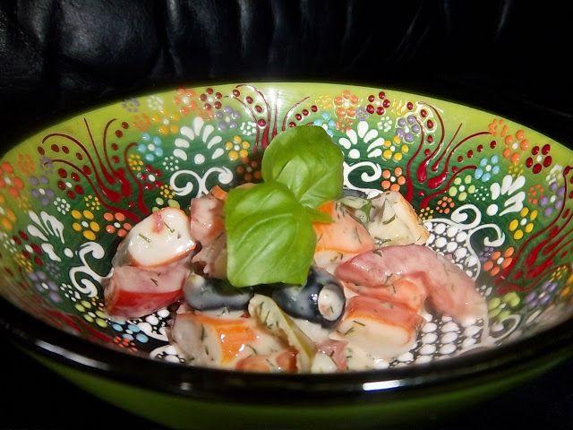 Scharfer Surimi Salat Spicy surimi salad