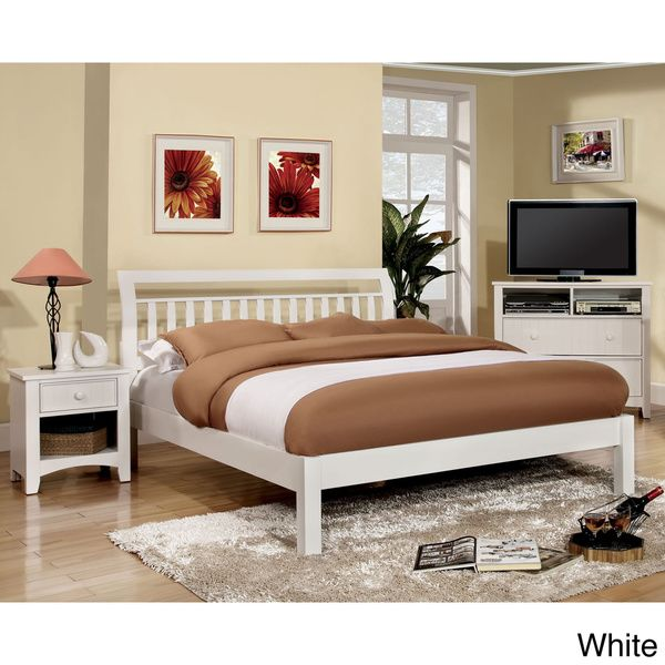 Furniture of America Perillean Slatted Transitional Platform Bed