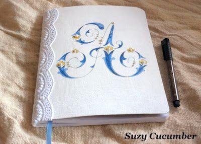 Fabric monogrammed book