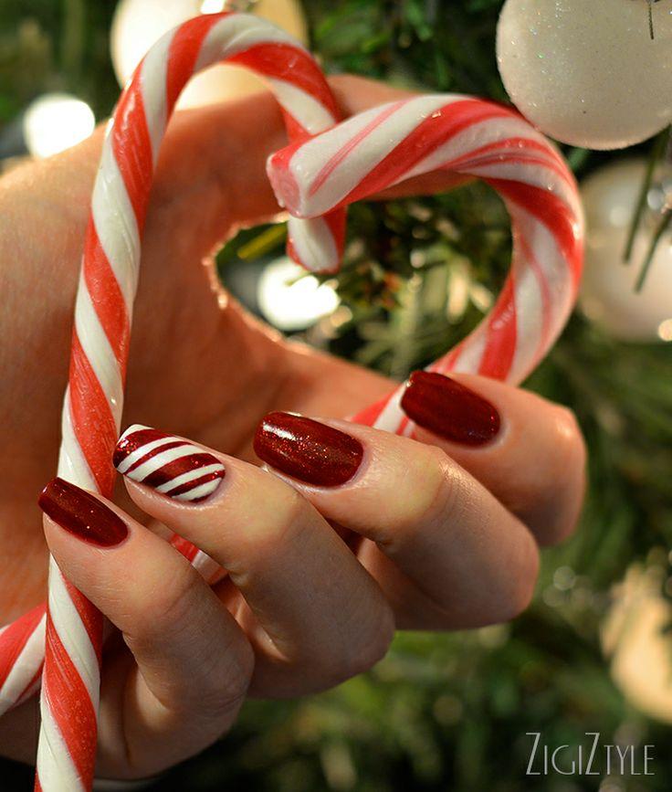 ZigiZtyle: Joulukynnet / Candy Cane Christmas Nails