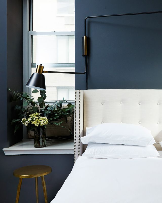 """The key to a luxe bedroom is creating multiple layers of heights, scale, and texture,"" says Roth. All-white rooms can look ""flat,"" so she recommends experimenting with different shades of white,..."