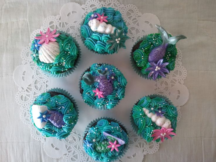 Mermaid Tail Cupcakes Cupcakes Pinterest Mermaid