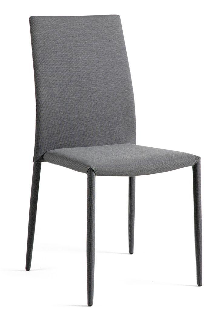 PEPPER-tuoli, kasattu, pinottava, tummanharmaa