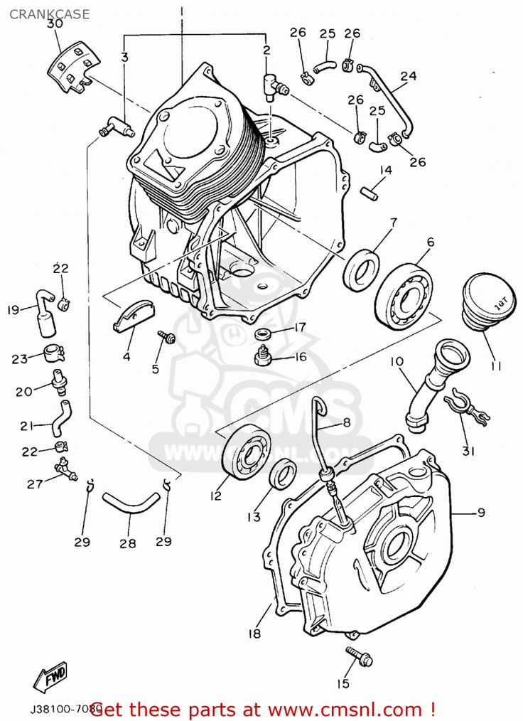Yamaha Golf Cart Engine Parts Diagram di 2020