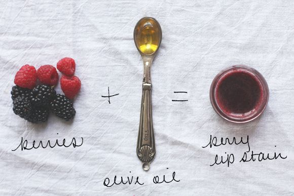 DIY Berry Lip Stain - Free People Blog Id probably use coconut oil instead of olive oil
