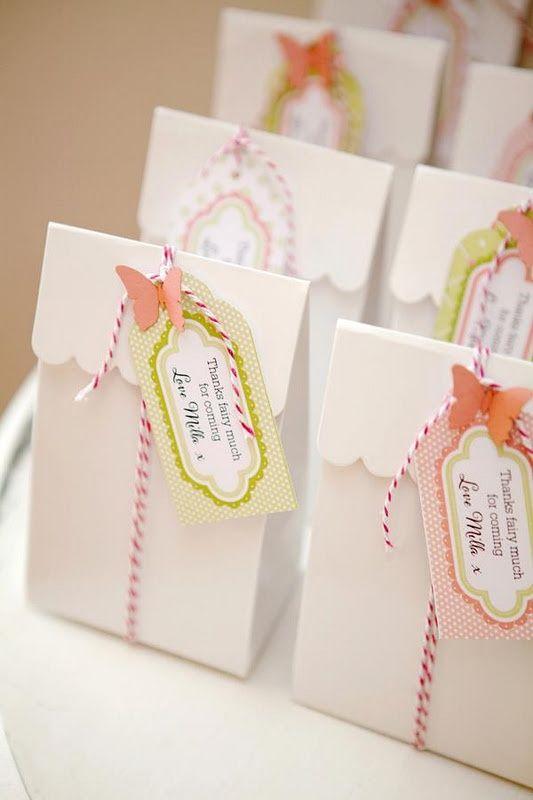 Lembrancinhas com sacos de pão para festa Jardim Encantado - Dicas pra Mamãe