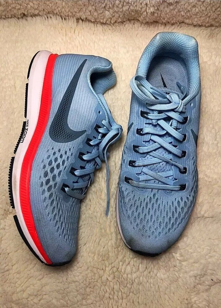 3cf5c85d88908 Womens Nike Air Zoom Pegasus 34 Running Shoes 880560-404 ICE BLUE ...