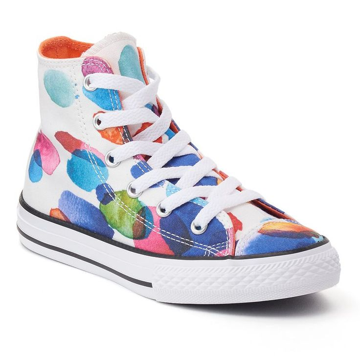 Converse Chuck Taylor All Star Floral Petals Girls' High Top Sneakers, Natural Size 12