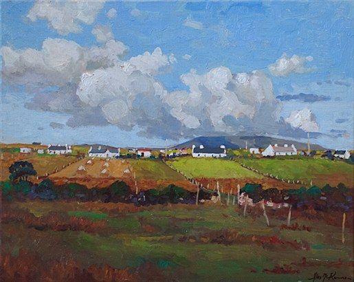 Alex McKenna-Slievemore  #art #Atalantic #Coast #moutains #water #ocean landscape #Achill #Island #painting #DukeStreetGallery