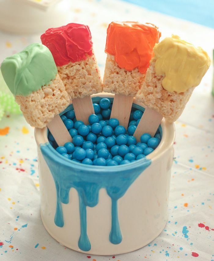 Splatter and Splash Summertime Art Party via Kara's Party Ideas KarasPartyIdeas.com Favors, printables, games, desserts, and more! #artparty...