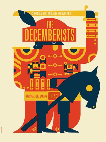 The Decemberists. Poster design: Dan Stiles (2015).