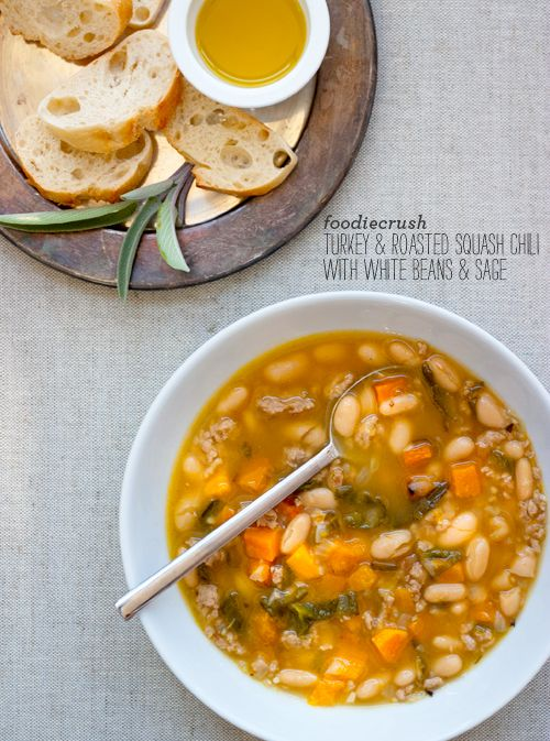 Roasted Butternut Squash and Turkey Chili with White Beans and Sage ...
