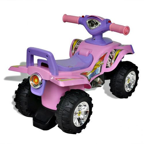 Kids Ride On Quad Bike Battery Car Sound Lighs Pink & Purple Outdoor Girls Toy  #Unbranded #ChildrensRideonQuad
