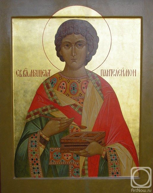 St Panteleimon icon, by Olga Sveshnikov.