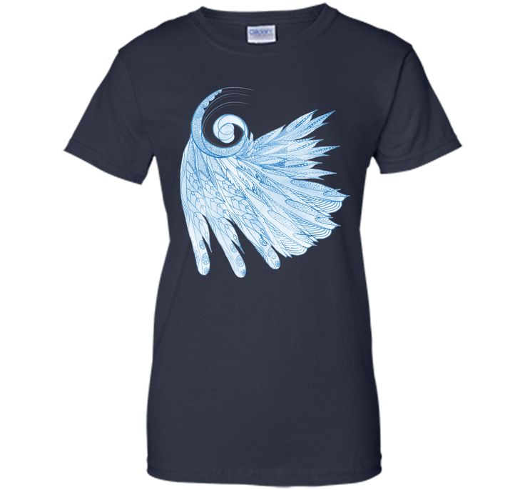 Admirable Beautiful Feathers On Blue Marble Design 2017 T Shirt