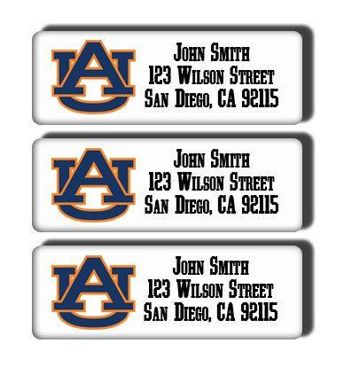 Auburn University Tigers College Football Team  by DreamLabels, $5.00