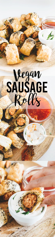 Delicious Vegan Sausage Rolls With Pesto, Sundried Tomato and Vegan Mozzarella.