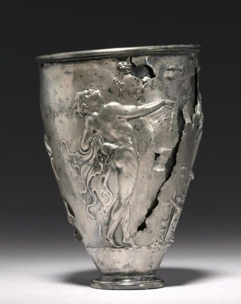 The Vicarello Goblet, late 1st Century BC - early 1st Century Italy, Vicarello (ancient Aquae Apollinares), Roman, Augustan period  silver