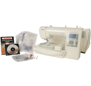 Janome Memory Craft Embroidery Machine with Design CD  #ilovetoshop