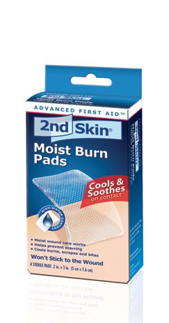 2nd Skin Burn Pads - the best treatment for blisters. Cover with athletic tape or the adhesive strips in their blister kit.